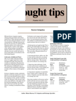 Furrow Irrigation - Drought Tips