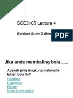 4SCE 3105 Kuliah 4 Gerakan Dalam 2-D