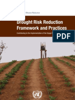 Drought Risk Reduction Framework and Practices