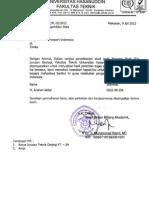 (5) Surat Rekomendasi Dari Wakil Dekan Bidang Akademik Fakultas Teknik UNHAS