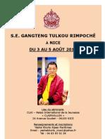 Gangteng Rimpoche Nizza Nice 2012