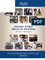 2011 Henry Ford Health System Award Application Summary