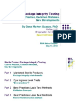 Sterile Product Package Integrity Testing