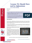 Five Lessons We Should Have Learnt in Afghanistan