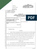 Medical Board Accusation