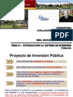01 – INTRODUCCIÓN AL SISTEMA DE INVERSIÓN PÚBLICA