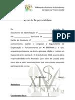Termo de Responsabilidade - XI ENEMVet