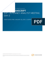 JCP 1.26.12 Analysts Meeting Day 2 Transcript