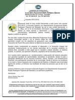 Bienvenida Blog 2012-2013