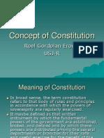 Concept of Constitution-Polsci Slide( Roel G. Eroma)