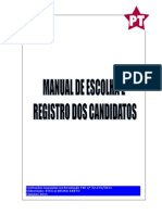 MANUAL DE ESCOLHA E REGISTRO DE CANDIDATOS