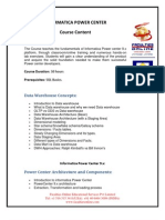 Informatica 9.x Course Curriculum