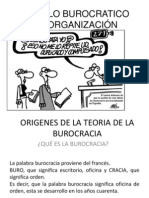 MODELO BUROCRATICO DE ORGANIZACIÓN
