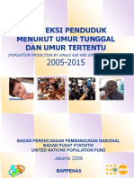 Proyeksi Penduduk Menurut Umur Tunggal & Umur Tertentu