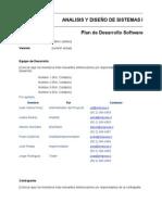 Formato 1 Plan de Desarrollo Software