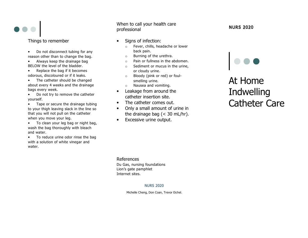 Catheter Pamphlet | Catheter (7 views)