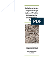 Building a Better Response - Research Report