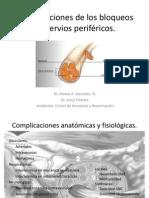 Complicaciones de los bloqueos de nervios periféricos