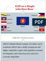 ASEAN as a Single Production Base