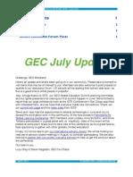 GEC July Newsletter