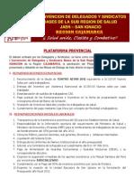 Plataforma Provincial Jaen 2012