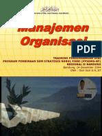 Manajemen Organisasi Review Singkat