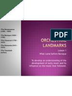 Orchestral Landmarks Renassaince
