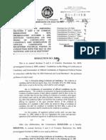 Amendments of Filing of COC Res8692