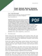05 JUSI Vol 1 No 1 Pembandingan Metode Backup Database MySQL Antara Replikasi Dan MySQLDump