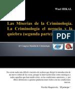 Las miserias de la Criminología