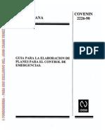 2226-1990, Guia Para La Elaboracion de Planes de Emergencias