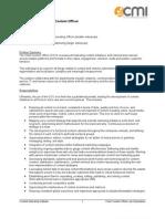 Chief Content Officer Job Description Sample