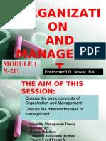 MODULE 1. Organization and Management