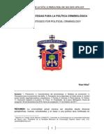 Nuevas estrategias para la Política Criminológica
