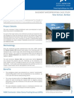 Case Study Basement Waterproofing Belfast May2012