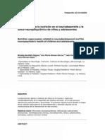 Repercusión de la nutrición en el neurodesarrollo