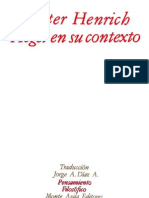 HENRICH, Dieter. Hegel en su contexto. (traf. Jua A. Díaz A.) Monte Ávila editores