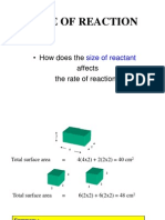 Size of Reactant