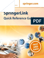 User Manual for Springerlink