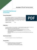 Autocad Mechanical Essentials Training SYLLABUS