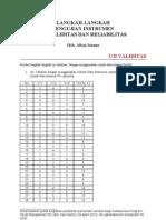Langkah Langkah Uji Validitas Dan Reliabilitas3