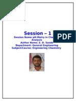 chemistry session plan