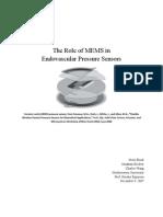 Endo Vascular Pressure Sensors