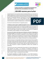 Manifiesto Feaps 100000 Razones 13-07-12