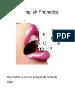 Modèle lapbook - English Phonetics
