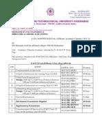 Academic Calendar Academic Calendar for II, III, IV b .Tech.-b.Pharm for 2011-12