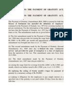 Gratuity Amendments