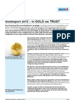 Spezialreport Gold 2012 - In GOLD We TRUST