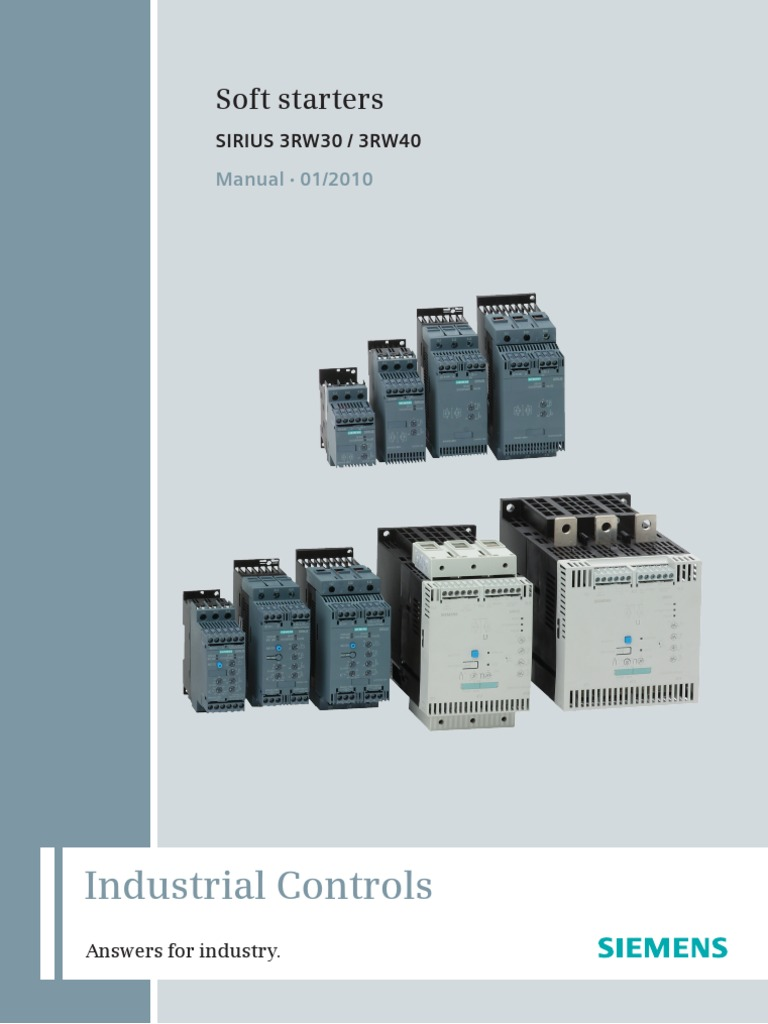 Siemens Soft Starter Wiring Diagram 35 Images Sirius 1509530203 Manual Softstarter En 0110 Fuse Electrical Switch