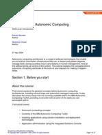 A Quick Tour of Autonomic Computing